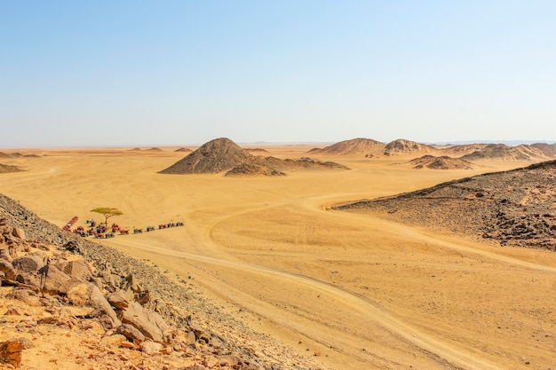 The scenery in the mountains of the red sea with views of the desert