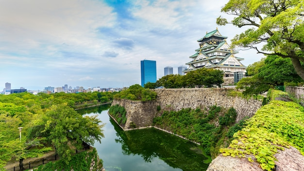 Scenery of osaka castle , japan