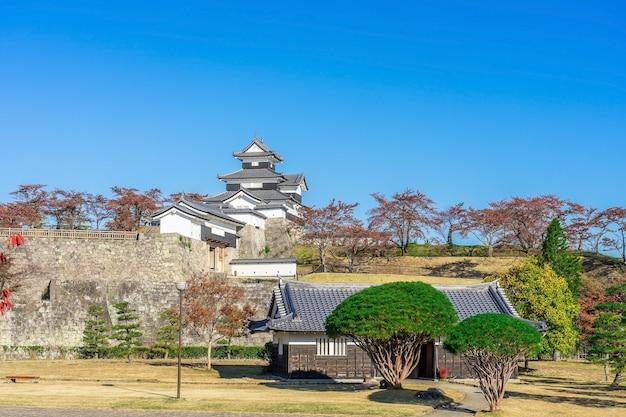 Scenery of the shirakawa komine castle, japan.