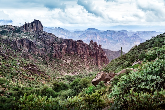 Scenic landscape in desert of arizona, usa