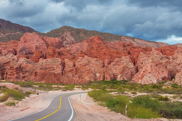 Scenic landscapes of northern argentina. beautiful inspiring natural landscapes.