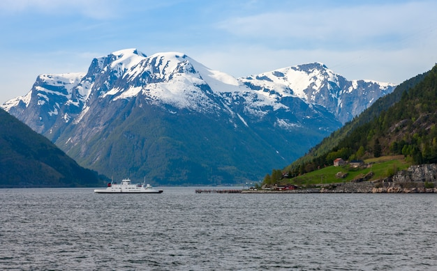 Scenic landscapes of the norwegian fjords.