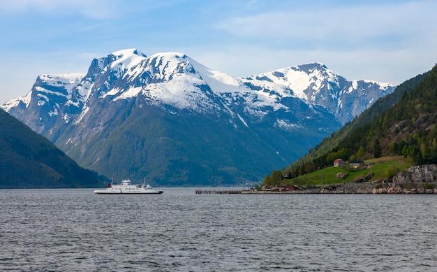 노르웨이 피요르드의 아름다운 풍경.