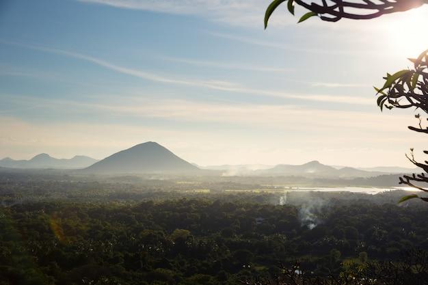 Scenic mountain landscape, ceylon nature