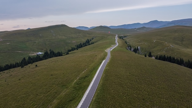 루마니아의 아름다운 산악 도로 transbucegi, 조감도