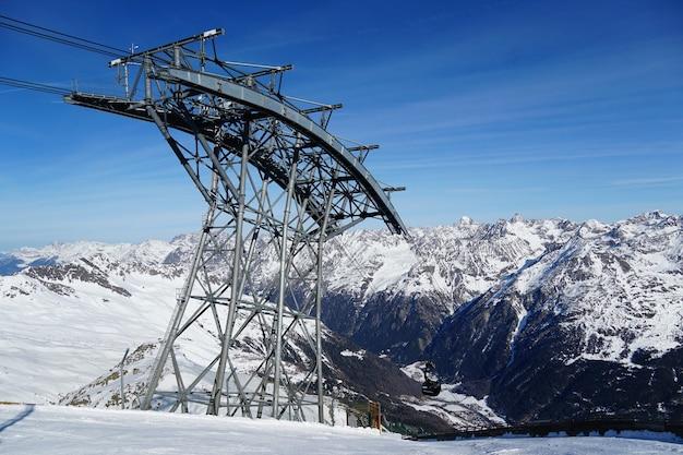 Montagne panoramiche nelle alpi austriache