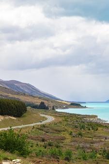 Живописная дорога на гору кук южный остров новая зеландия
