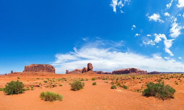 モニュメントバレーの風光明媚な砂岩の風景