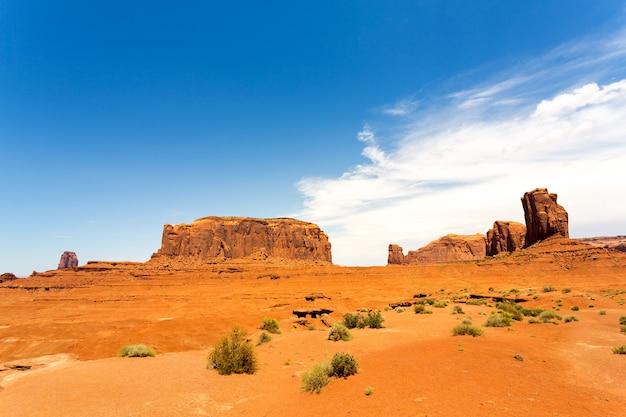 Scenic sandstones landscape at monument valley