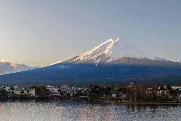 Scenic sunrise of fujisan at morning, japan