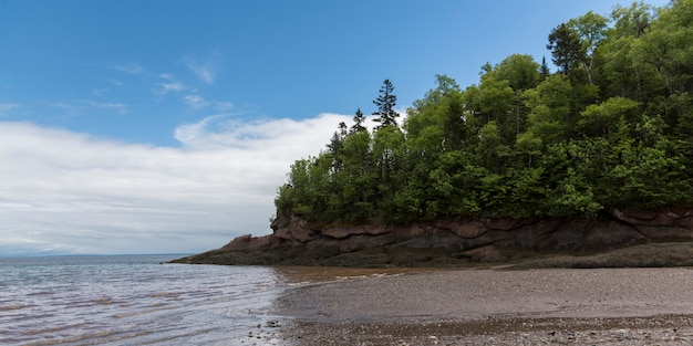 Scenic view of the bay of fundy, fundy national park, alma, new brunswick, canada