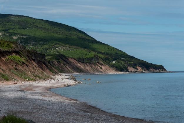Scenic view of beach, cabot trail, cape breton highlands national park, cape breton island, nova sco
