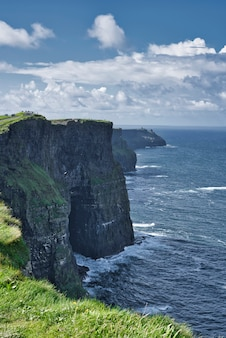 Scenic view of cliffs of moher