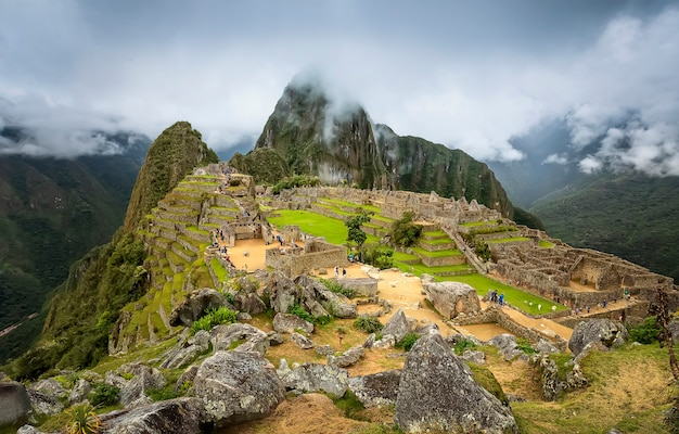 Scenic view of machu picchu sacred valley of inca. cusco region. peru. south america