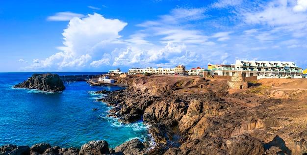 Scenic village in rocky northen coast of fuerteventura