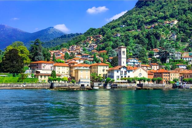 Живописная деревня торно - лаго ди комо, италия