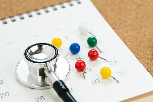 График встречи с врачом для проверки здоровья, планирование концепции медицинского осмотра