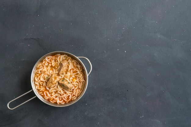 Schezwan noodles or vegetable hakka a popular indo-chinese recipes.