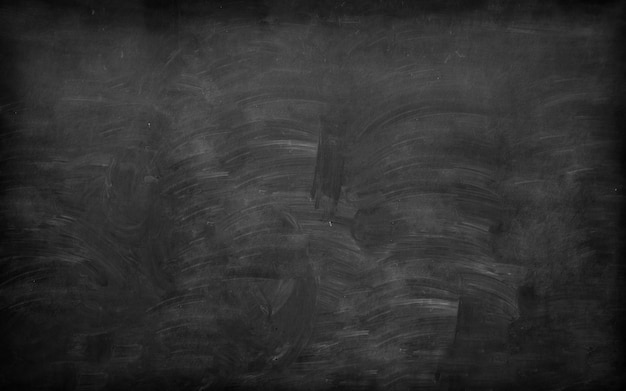 School background blackboard with remnants of erased chalk