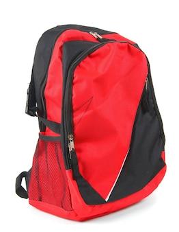Школьный рюкзак на белом фоне