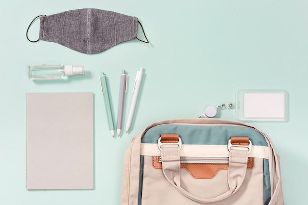 학교 가방 및 학교 액세서리 얼굴 의료 마스크 및 손 소독제
