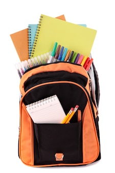 School bag with elements