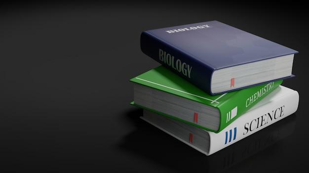 School books, back to school concept 3d rendering