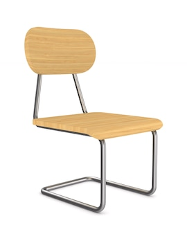 학교 의자. 격리 된 3d 렌더링