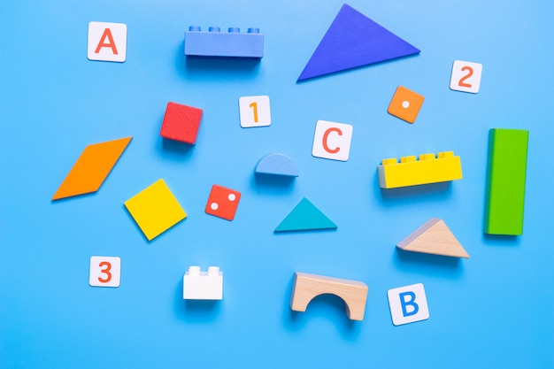 School educational toy and stationary for math and alphabet concept