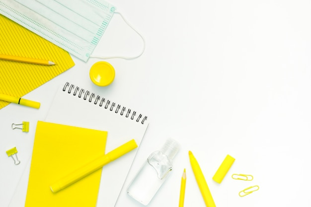 School items with white background