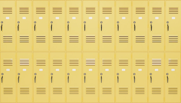 学校のロッカーの背景 Premium写真