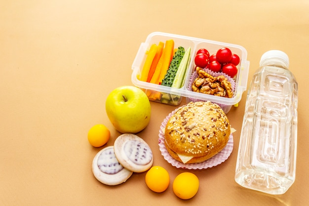 School lunch box. back to school concept