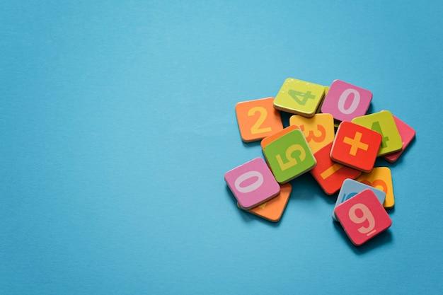 School numbers. mathematics concept, math