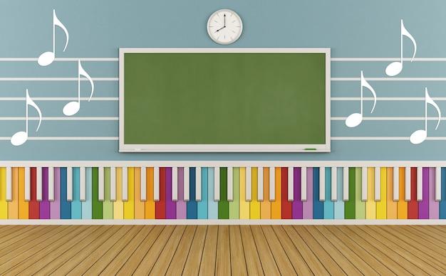 Музыкальная школа с украшением на стене