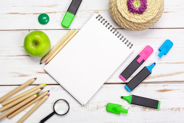 School and office supplies, copyspace