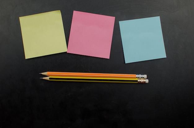 School office supplies including board