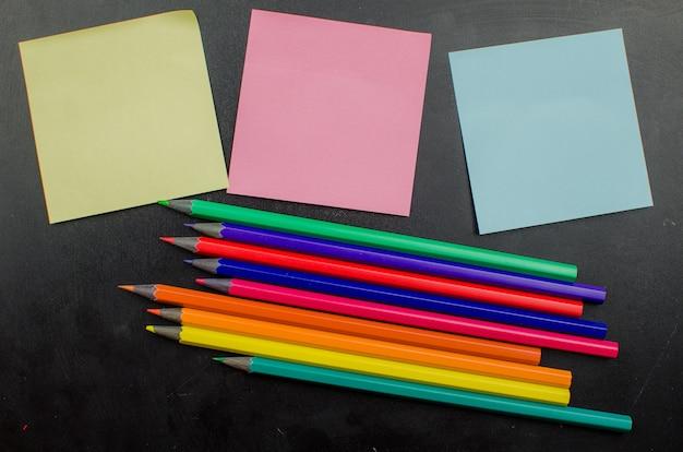 School office supplies including board.