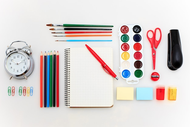 School set with notebooks