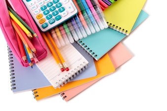 School stationery with accessories