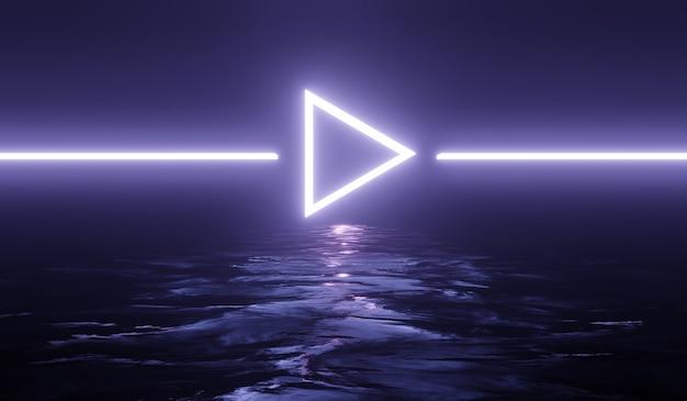 Научно-фантастический технологический фон с фиолетовым неоном.