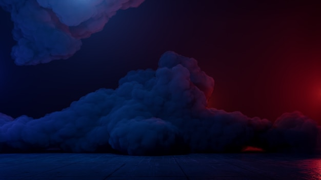 Sci fi仮想現実風景サイバーパンクスタイル3 dレンダリング、ファンタジーの宇宙と宇宙雲の背景