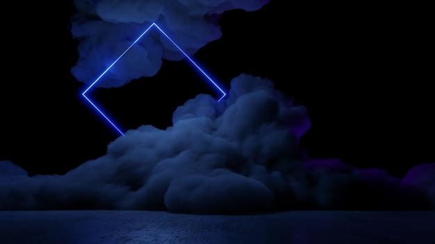 Sci fi仮想現実風景サイバーパンクスタイル3 dレンダリング