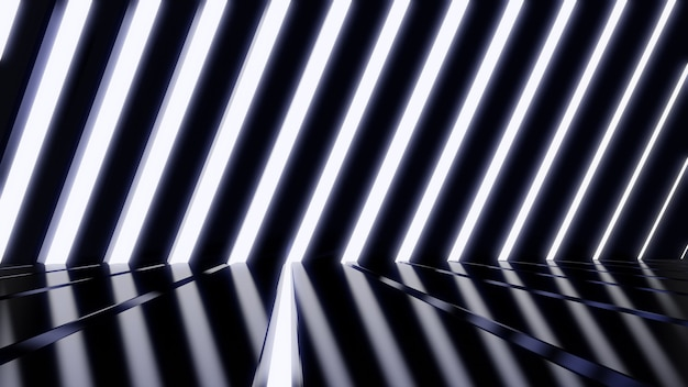 Sci fi wall light tunnel background for advertising for in sci fi and technology innovation scene
