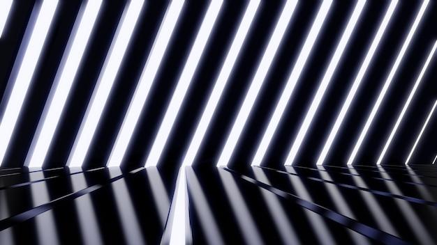공상 과학 및 기술 혁신 장면에서 광고를위한 공상 과학 벽 빛 터널 배경