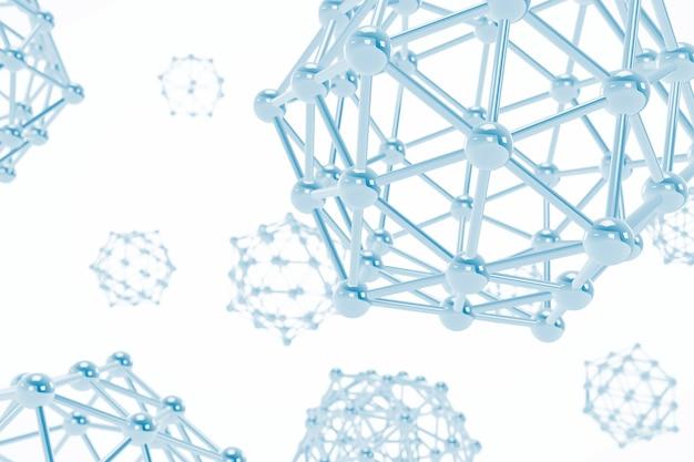 Наука абстрактные молекулы на белом фоне. 3d рендеринг