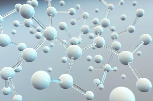 분자 또는 원자, 의료 배경에 대 한 추상 구조 과학 배경.