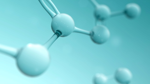 Science and chemistry conceptual background with atom or molecule structure