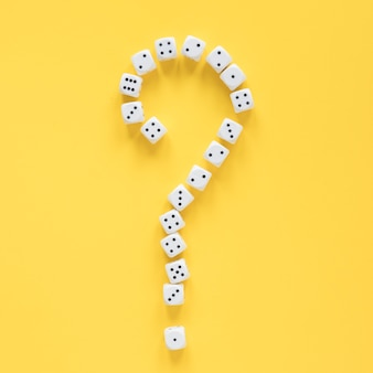 Science of dice probabilities and question mark