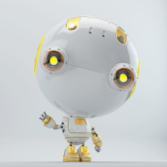 Science fiction robot character in 3d