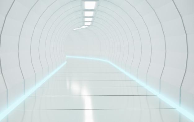 과학 마찰 방식 또는 철도 터널, 3d 그림 렌더링